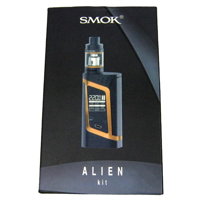 Электронная сигарета SMOK Ailen220W BlackGold (Распродажа)(боксмод+атомайзер+3наг.+microUSB/USB)