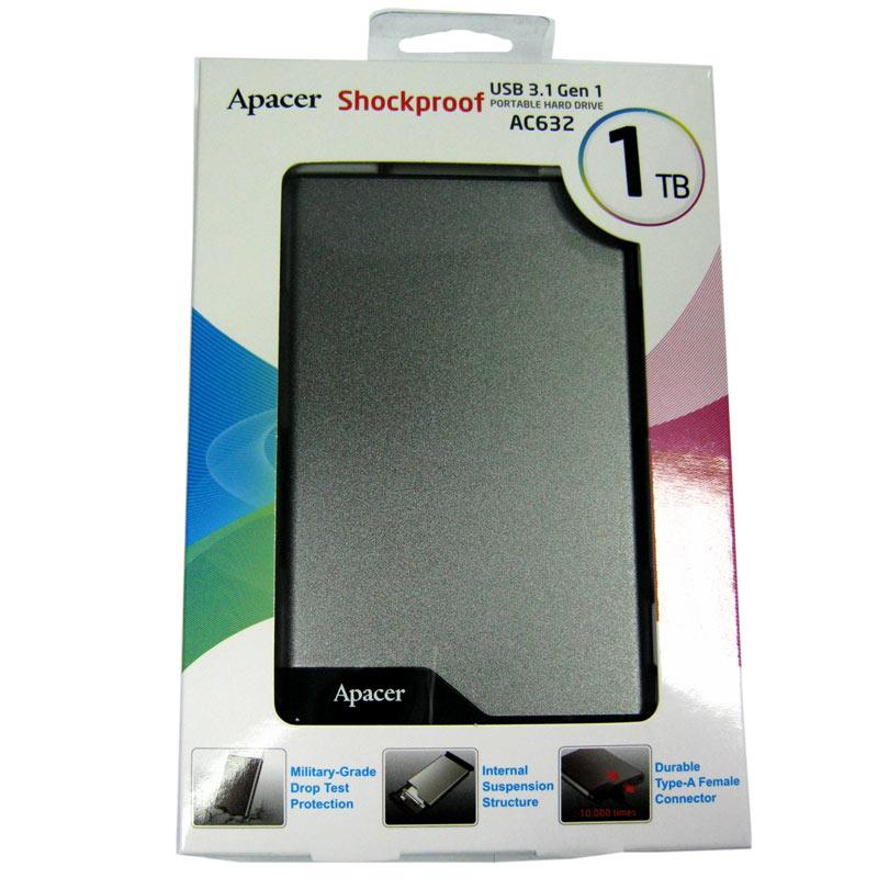 Портативный жёсткий диск HDD.1.0Tb APACER AC632 USB3.1 2.5
