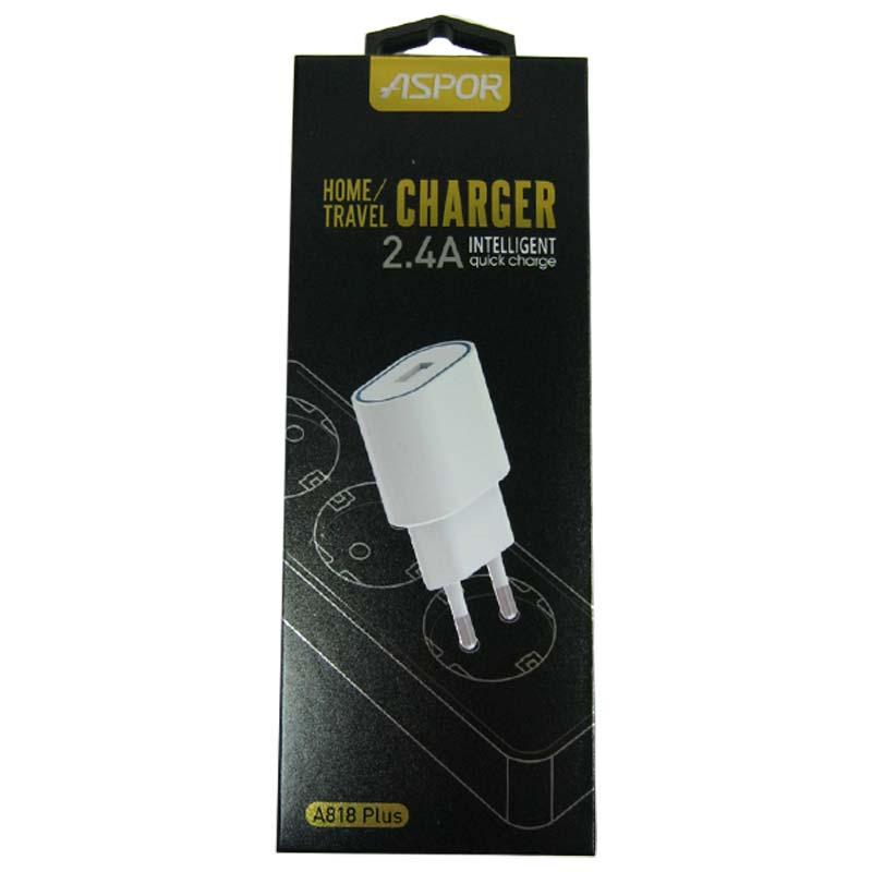Зарядное устройство ASPOR A818Plus 2,4A(IQ)+кабель microUSB; 1-USB