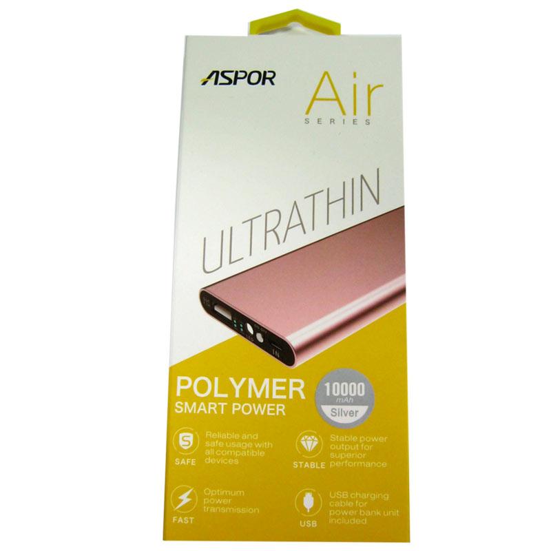 Портативное зарядное устройство ASPOR A383 Li-Pol(10000mAh) 1USB(2.1А) Original