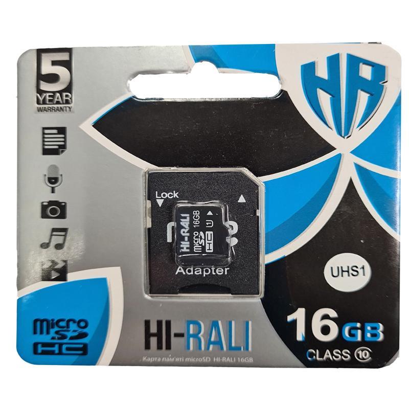 Карта памяти micro-SDHC16Gb Hi-Rali Class10 +адаптерSD