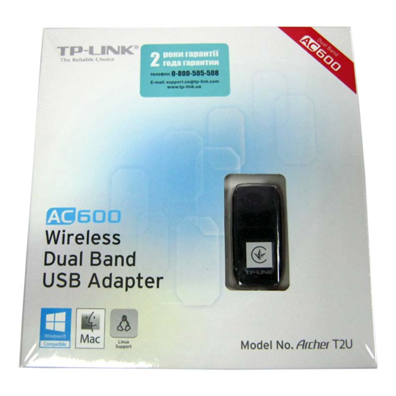 Беспроводный адаптер TP-Link Ahrher T2U AC600 Wireless Dual Band USB adapter