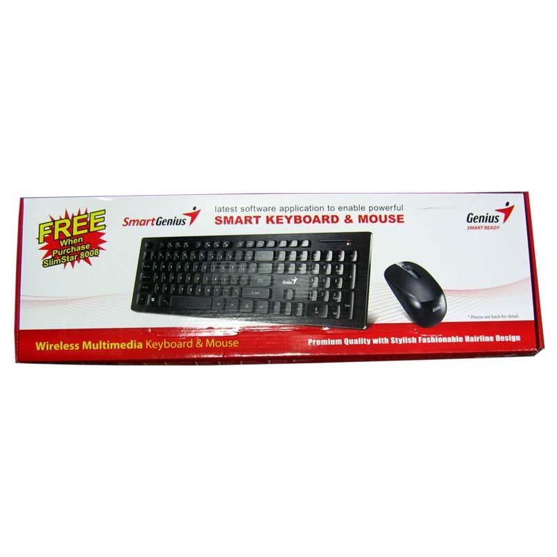 Беспроводная клавиатура Genius SlimStar 8008 + мышка USB (черный)