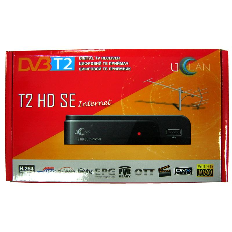 Тюнер DVB-T2 uClan T2 HD SE (гар.14дн.) (без дисплея;IPTV;YouTube;USB 2.0)