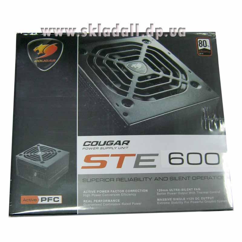 Блок питания Сougar XTC-600W PCI-E 6+2Pin;ATX 20+4Pin; 12cм fan