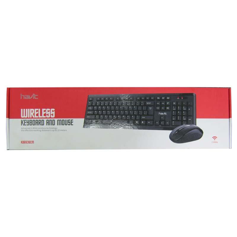 Беспроводная клавиатура Havit HV-KB653GCM USB + мышка,black