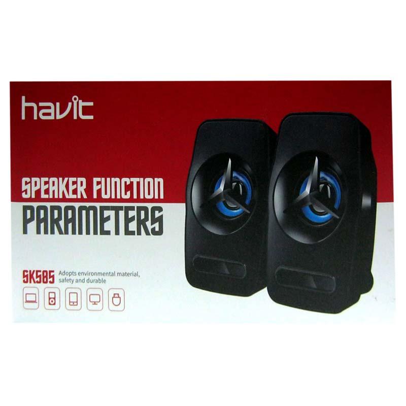 Колонки Havit HV-SK585 USB, black+blue