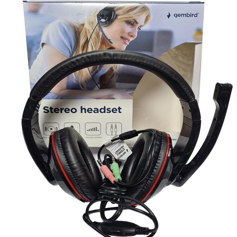 Наушники с микрофоном Gembird MHS-001,черные