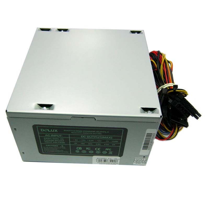 Блок питания DELUX 400W ATX-400W P4(DLP-25D)120mm fan