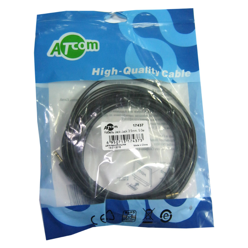 Кабель AUX ATcom jack3.5 / jack3.5 5,0m