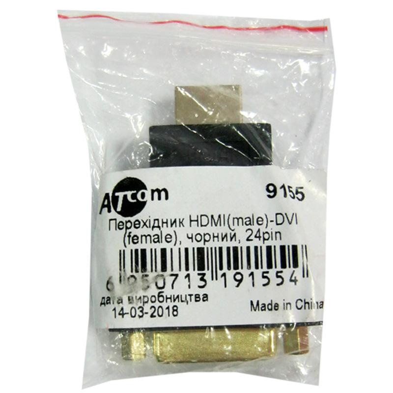 Переходник AT-com HDMI(шт.)-DVI(гн.24+1)