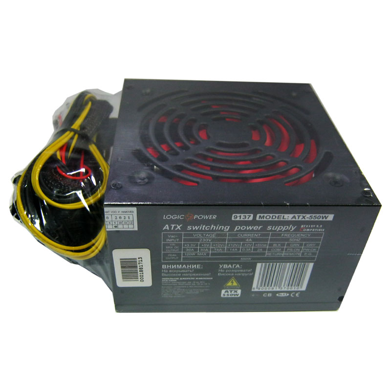 Блок питания Logicpower ATX-550W fan12см;4 SATA;CE;FCC;PCI-E 6Pin+8Pin