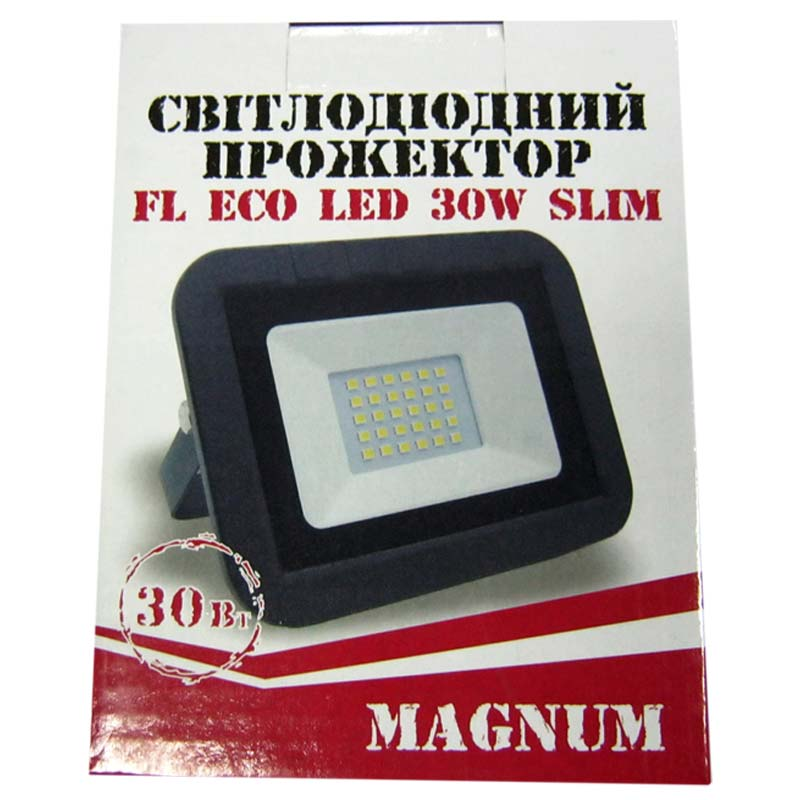 Прожектор светодиодный MAGNUM 30W ECO LED 6500K Slim
