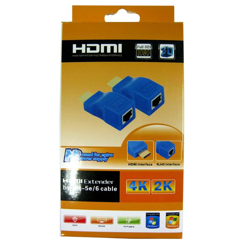 Переходник AT-com HDMI extender(удлинитель HDMI до 30м по витой паре)