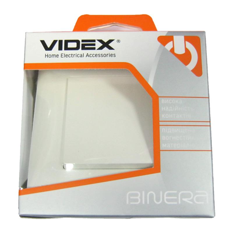 Выключатель белый VIDEX BINERA 1кл.(VF-BNSW1-W)