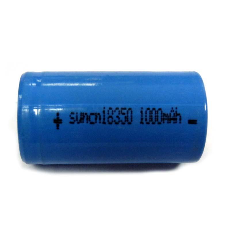 Аккумулятор литиевый 18350 (CR123)Balong blue 1000mAh 3.7V Li-ion