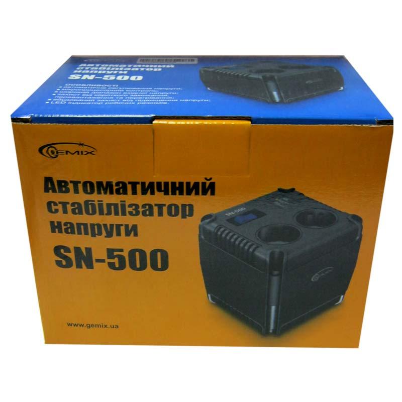 Стабилизатор Gemix SN-500 (350W);(123x123x120mm)
