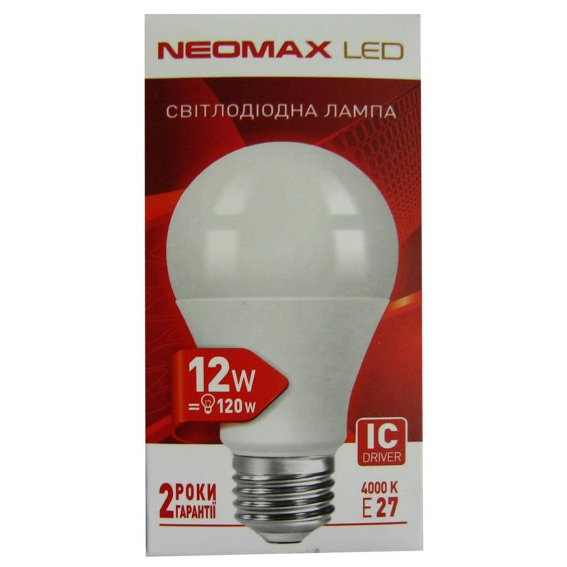 Лампочка светодиодная Neomax A60 12W E27 4100K