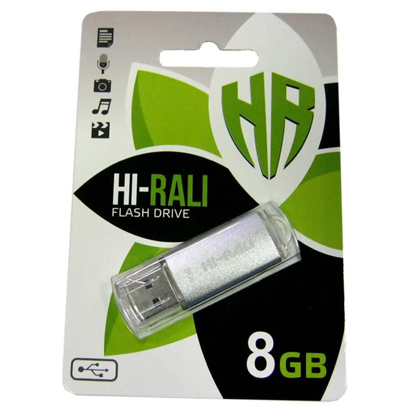 Флешка 8Gb Hi-Rali Rocket Silver
