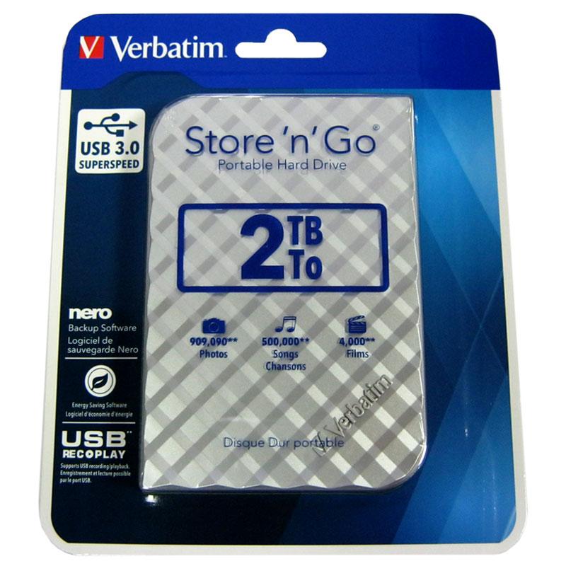 Портативный жёсткий диск HDD.2.0Tb Verbatim USB3.0 2.5