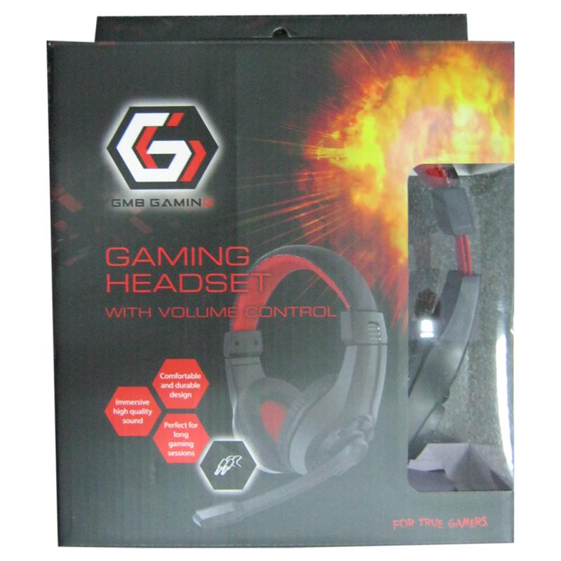 Наушники с микрофоном Gembird GHS-01,игровые,черные