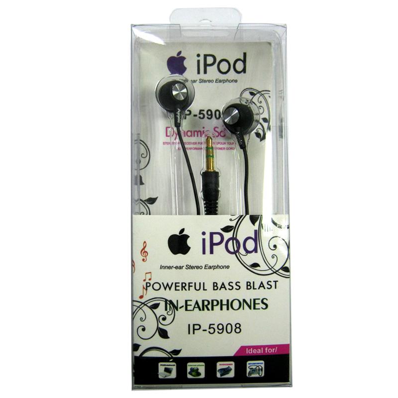 Наушники (Китай) iPod IP-5908 вакуумные