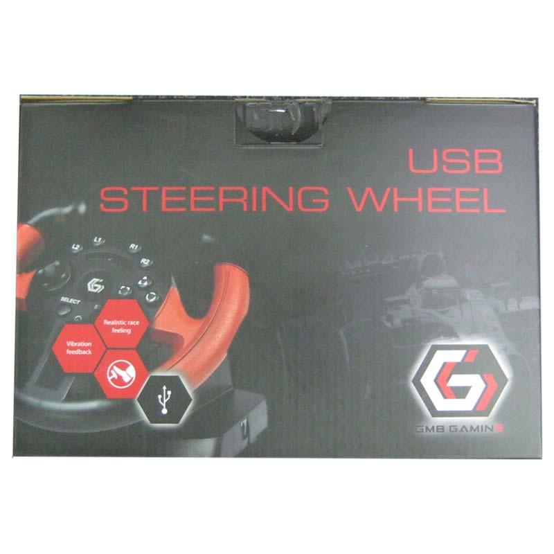 Игровой руль Gembird STR-UV-01 с педалями,c двойной вибрацией