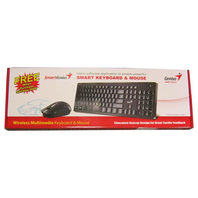 Беспроводная клавиатура Genius SlimStar 8006 + мышка USB (черный)