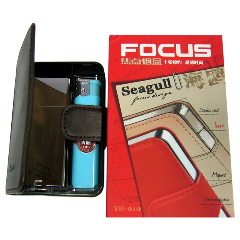 Портсигар на 10 сигарет FOCUS №3754;3755 c выбросом(Распродажа)