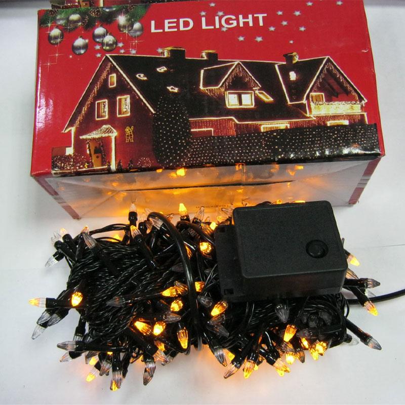 Гирлянда новогодняя 300 LED color;13,2m(конус;черный провод,с переключением режимов)