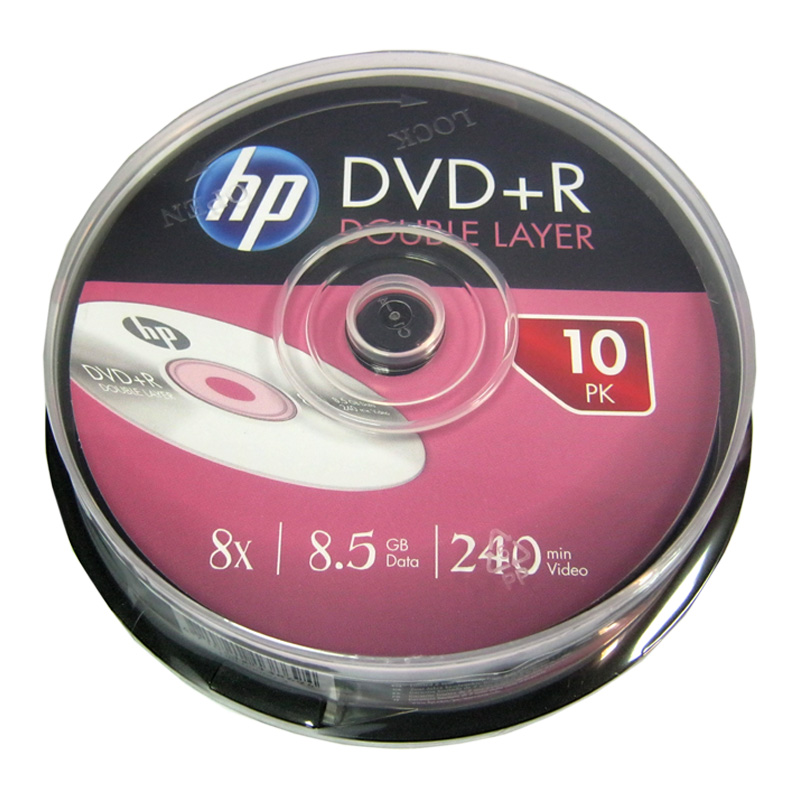 disk-hp-8-5gb---8x-cake-10-dvd-r-dvuhsloynaya