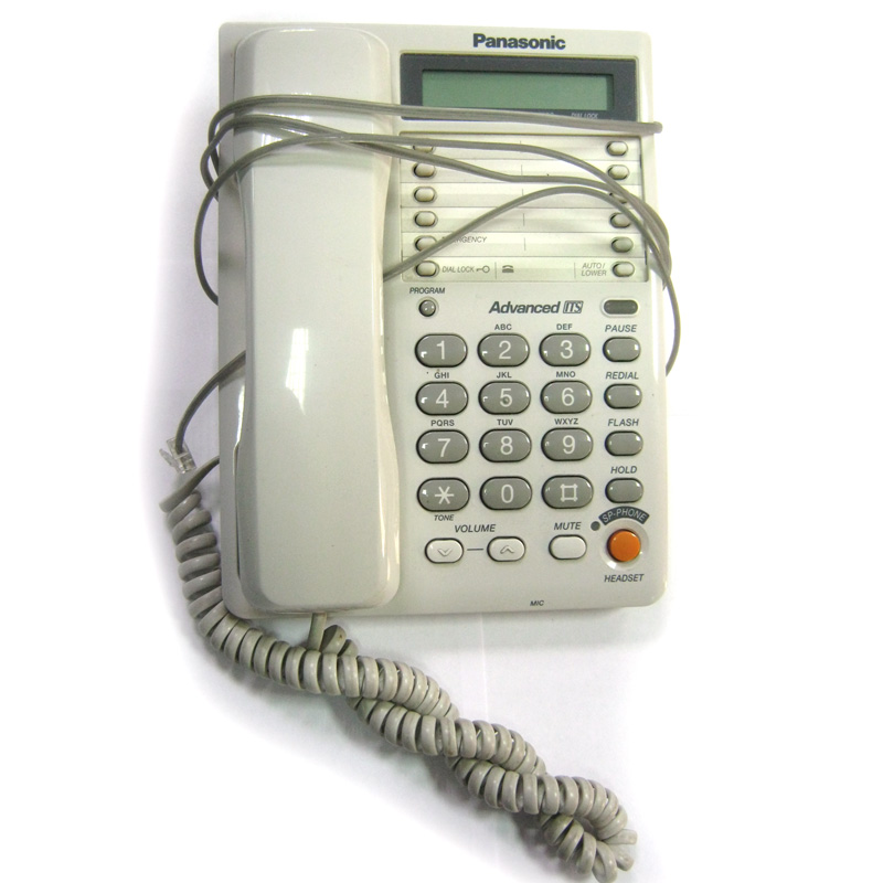 Телефон Panasonic KX-TS2365RUW(белый)б/у спикерфон, разьём для гарнитуры