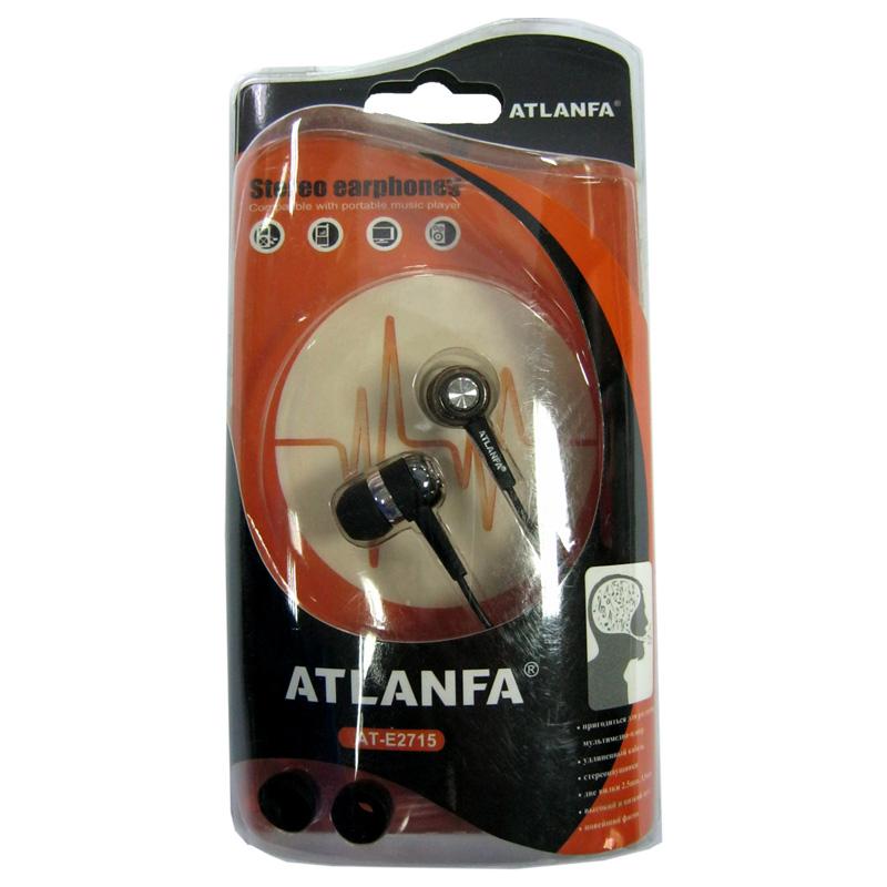 Наушники (Китай) Atlanfa AT-E2715 вакуумные