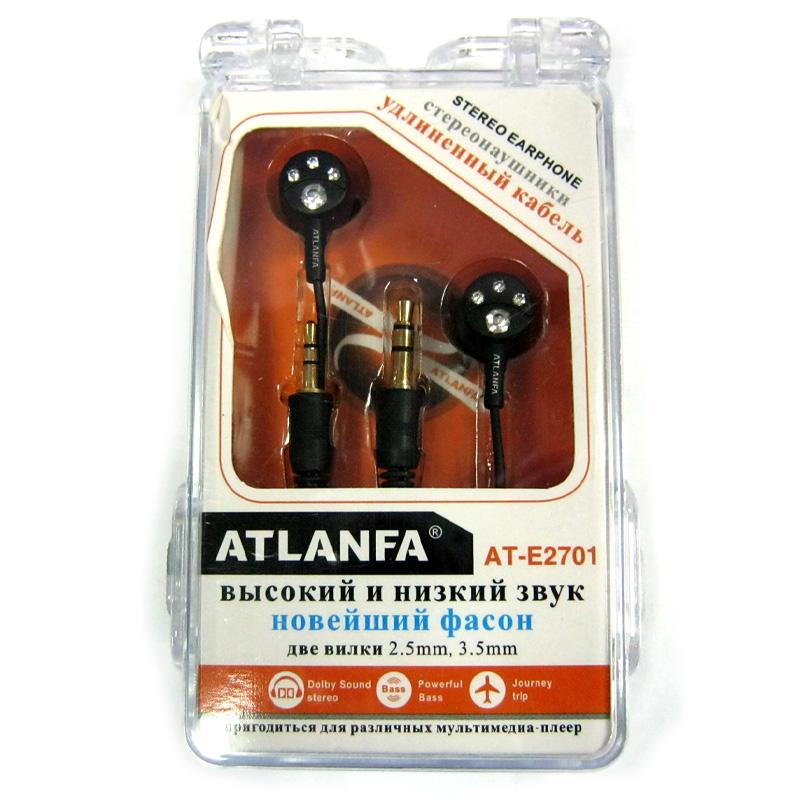 Наушники (Китай) Atlanfa AT-E2701 вакуумные