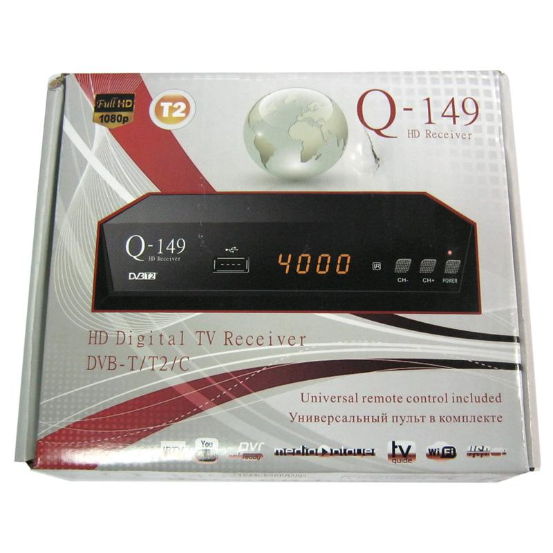 Тюнер DVB-T2 Q-Sat Q-149(гар.30дн.)(программируемый пульт;IPTV;YouTube)