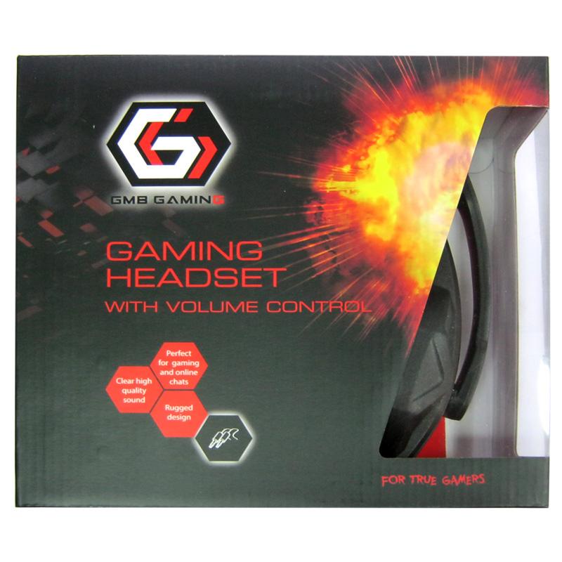 Наушники с микрофоном Gembird GHS-03,игровые,черные