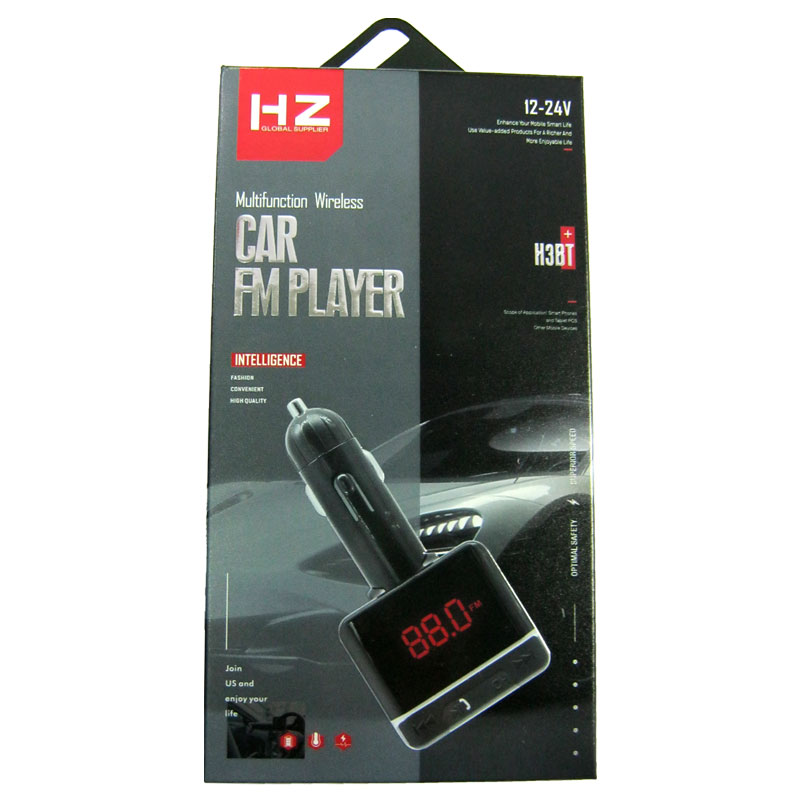 FM модулятор для автомобиля HZ H3BT+bluetooth