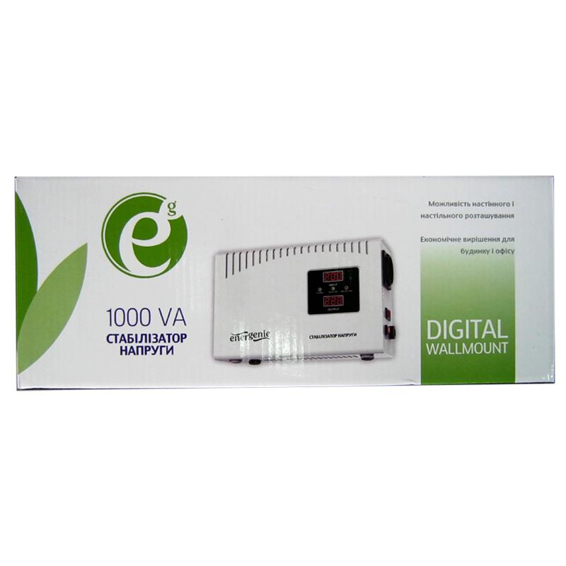 Стабилизатор EnerGenie EG-AVR-DW1000-01(600W);цифровой,m=4.8кг(260x174x94mm)