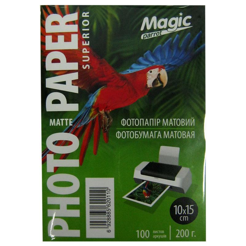 Фотобумага Magic A6 Inkjet Matte Paper 100л 200г/м2 матовая(10х15 см)