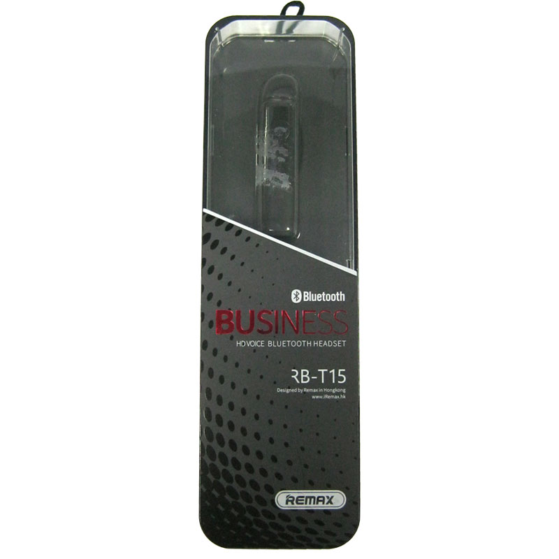 Bluetooth гарнитура Remax RB-T15 Black,на два устройства(на одно ухо)