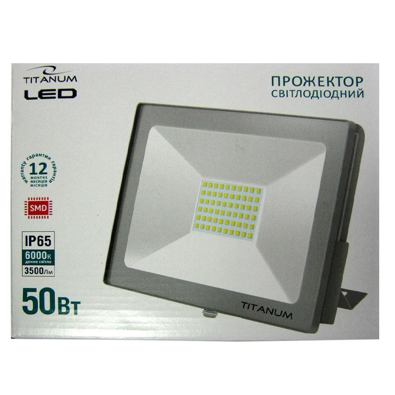 Прожектор светодиодный TITANIUM 50W 6000K (TLF506)