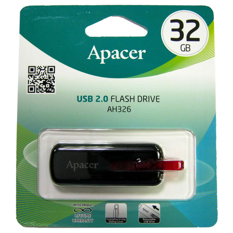 Флешка 32Gb Apacer AH326 black