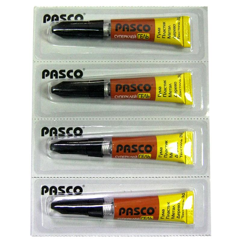 Клей PASCO супер клей гель 3g,блистер по 12шт