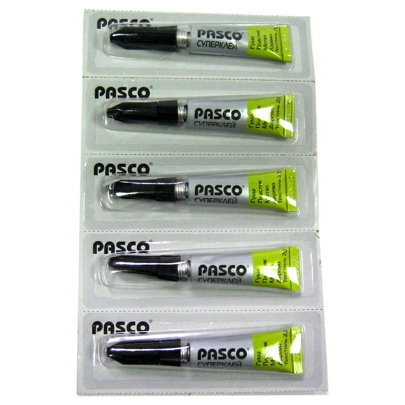 Клей PASCO супер клей 2g,блистер по 12шт