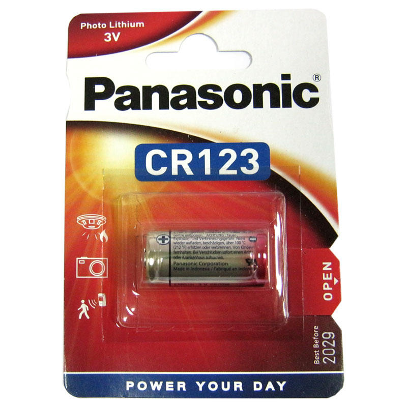 Батарейка CR 123A Panasonic 3V Litium