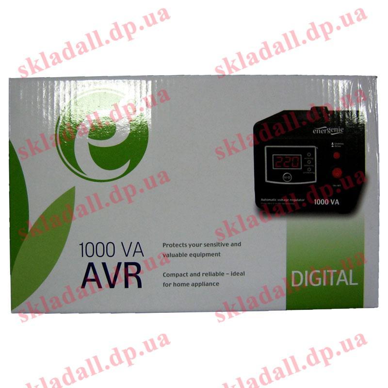 Стабилизатор EnerGenie EG-AVR-D1000-01(600W);цифровой,2.7кг,210х140х118