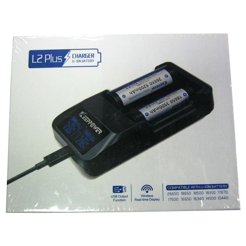 Зарядное устройство для Li-ion аккумуляторов Keeppower L2Plus(на 2шт 18650;LCD) 4.2V/1000mA