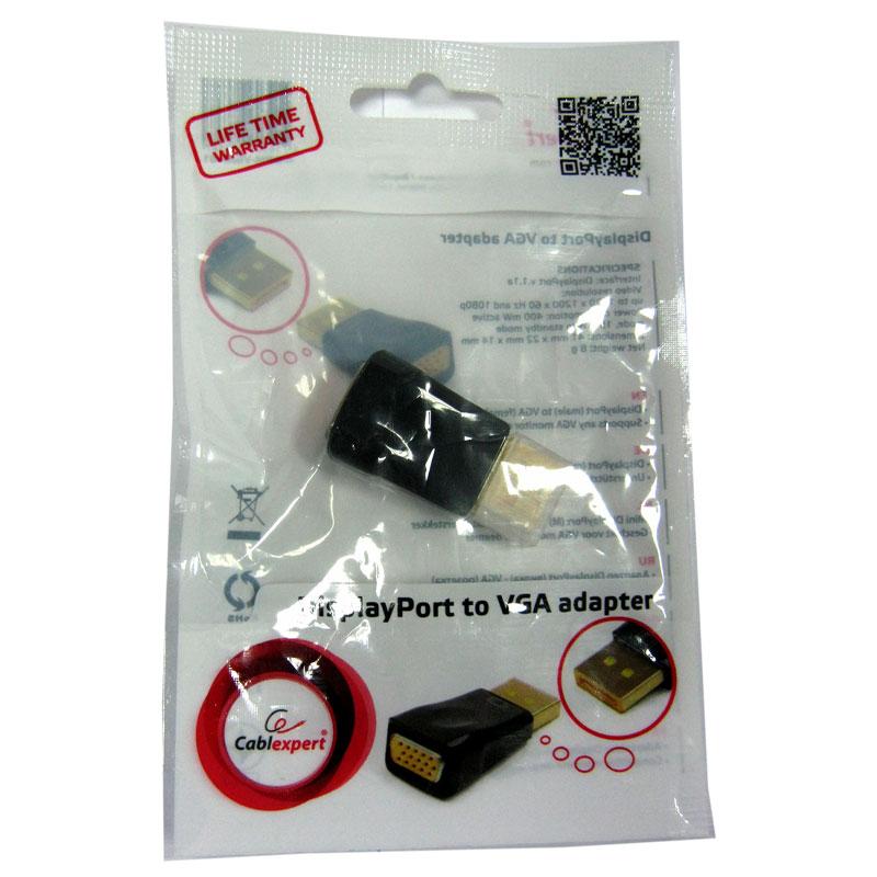 Конвертер сигнала Cablexpert DisplayPort (вилка) - VGA (розетка) A-DPM-VGAF-01