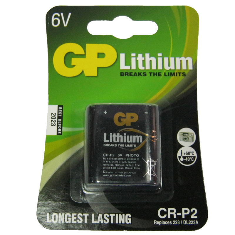 Батарейка CR-P2 GP , 6V , Lithium (для сенсорных кранов,фотоаппаратов)