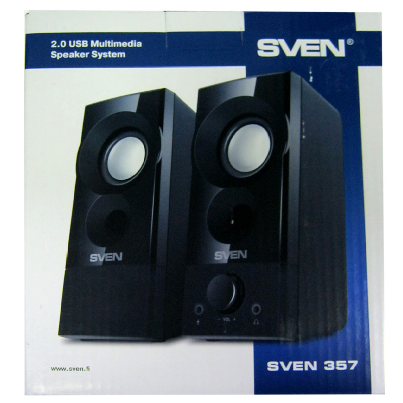 kolonki-sven-357-black-2x3-0w-usb